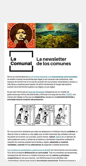 Campaña de comunicación sobre los comunes